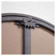 Kave Home Vianela Speil m. 5 knagger - Sort, 70x51
