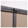 Kave Home Vianela Speil m. 7 knagger - Sort, 63x82