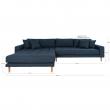 Lido Lounge Sofa m, venstrevendt sjeselong - Mørkegrå