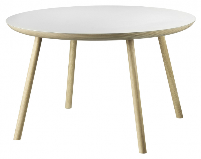 FDB Møbler D105 Gesja Sofabord - Eik/Mushroom, Ø75