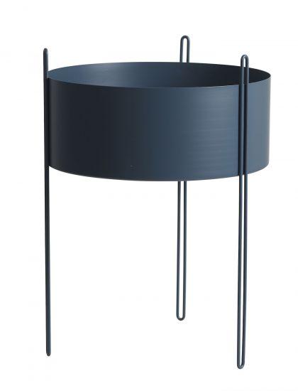 WOUD - Pidestall Flowerpot large - Blå