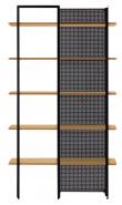 Kave Home Nadyria Reol - Natur/Sort, 100x180