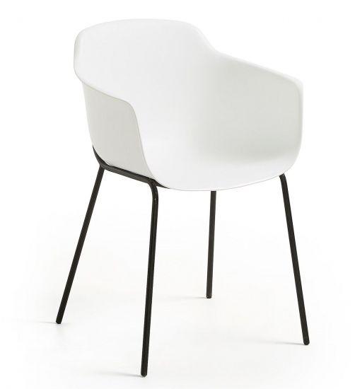 Kave Home - Khasumi Spisebordsstol i plast - Hvid