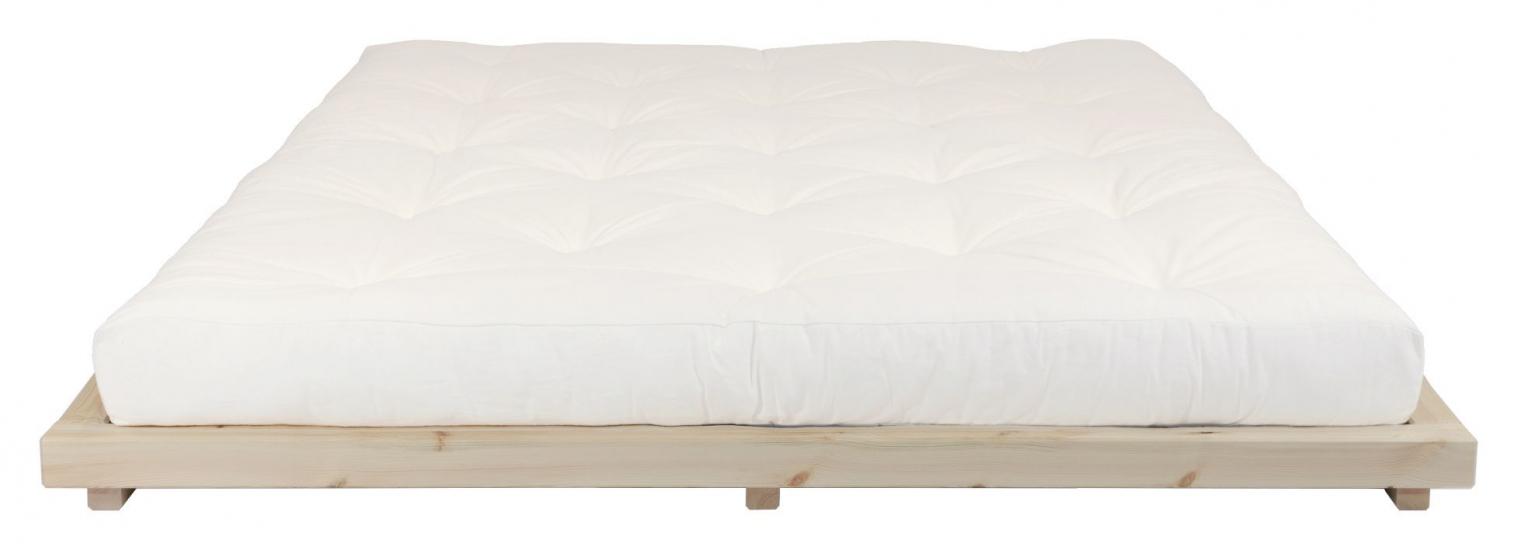 Dock Sengeramme Natur, Comfort Futon madrass, Offwhite, 160x200