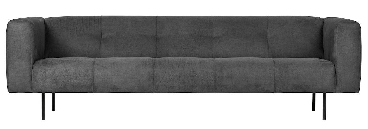 Skin 4-seter Sofa - Mørkegrå Lær