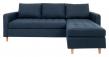 Firenze Sofa m, Flyttbar Sjeselong - Blå