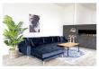 Lido Lounge Sofa m, venstrevendt sjeselong - Mørkeblåt Velour