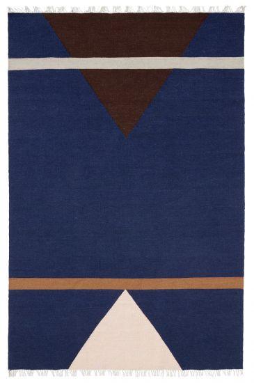 Nordal Sharp Ullteppe - Blå/Pink/Vinrød, 160x240