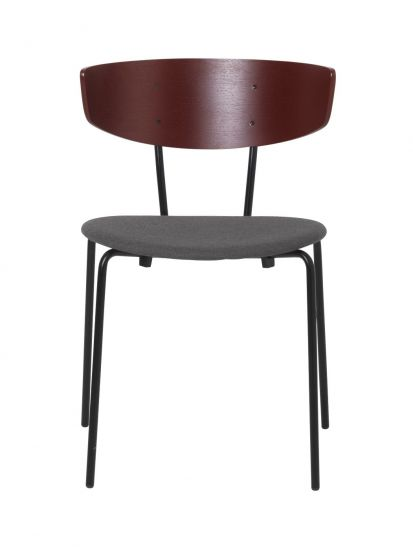 Ferm Living - Herman Spisebordsstol - Rødbrun/Warm grey
