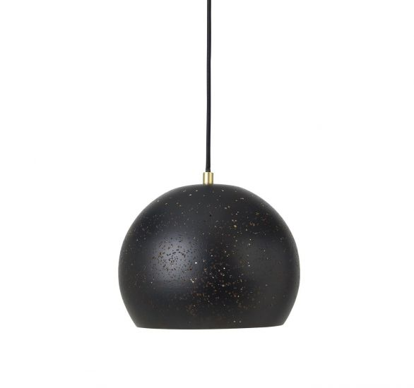 Lavas Loftlampe Ø25 - Sort/Messing finish