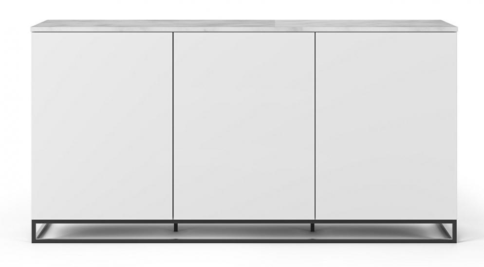 Temahome Join H2 Skænk - Mat Hvid/Hvid Marmor