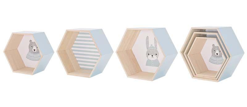 Bloomingville Mini - Settekasser - Blå