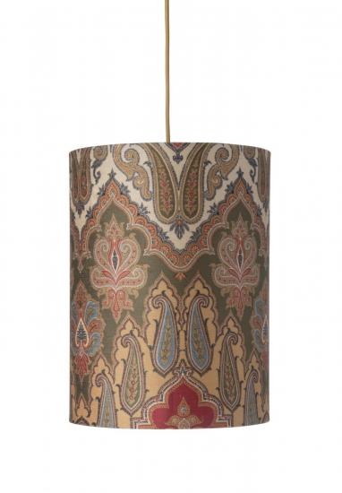 Ebb&Flow - Lampeskjerm, brocade, grønn/Gull, Ø30, loftlampe