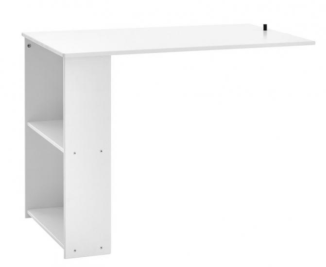 FLEXA - Nordic Uttrekks Skrivebord m/2 hyller - Hvit