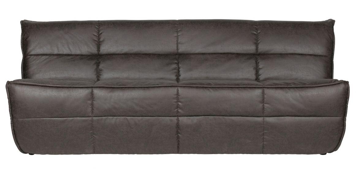 Cluster 3-seter. Sofa - Antracit Kunstskinn