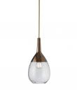 Ebb&Flow - Lute pendel, S, Klar / copper