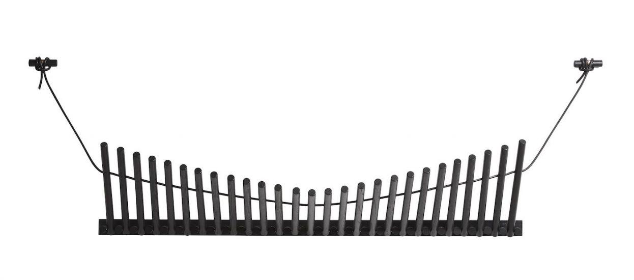 WOUD - Knægt Knaggerekke, sort malet eik