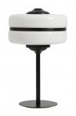 Nordal - Bordlampe m/hvit glas - Svart jern