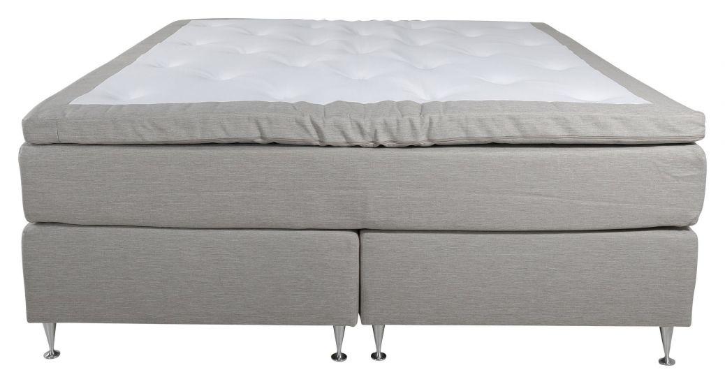 Furudal 7-zoner Kontinentalseng Medium/Medium, Beige stoff, 160x200