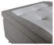Vansbro 5-zoner Elevationsseng Fast/Fast, Beige stoff, 180x200