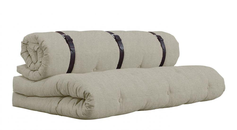 Buckle-Up Futon Sofa, linen