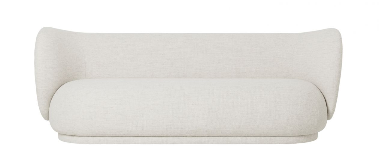 Ferm Living - Rico 3-pers. Sofa - Off White bouclé