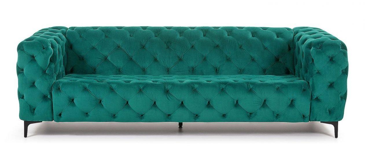 Kave Home - Maisha 3-pers. Sofa - Grøn velour