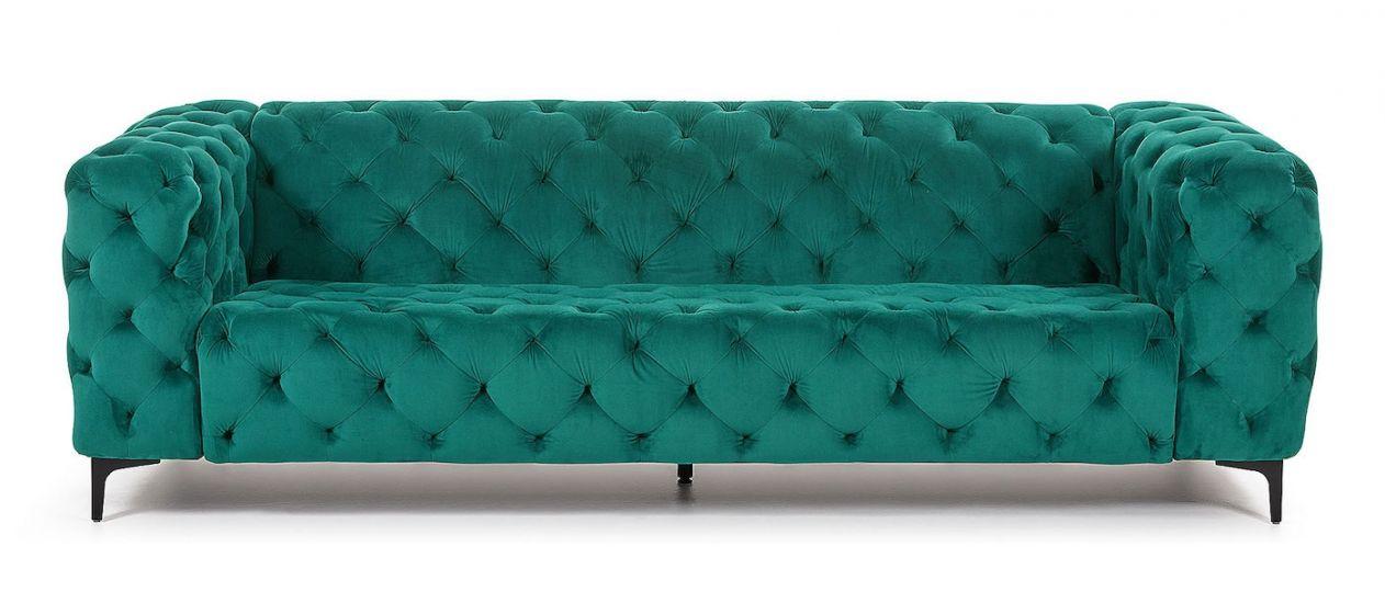 Laforma - Maisha 3-pers. Sofa - Grøn velour