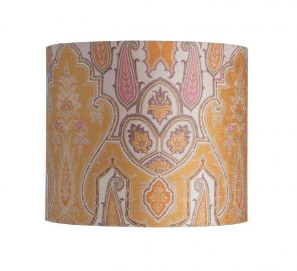 Ebb&Flow - Lampeskjerm, brocade, gul/pink, Ø35, bordlampe