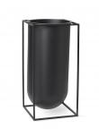 by Lassen - Kubus Nolia vase,  sort metall