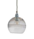 Ebb&Flow - Check mini stripe Krystall Rowan pendel m. Sølv Ø15