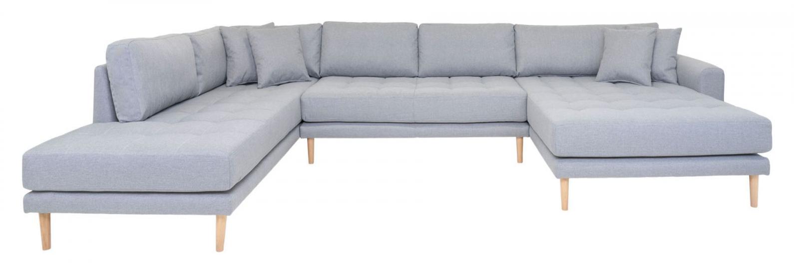 Lido U-sofa m, Åpen ende Høyrevendt - Lysegrå