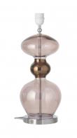 Ebb&Flow - Futura lampefot, obsidian, Sølv base