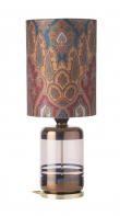 Ebb&Flow - Pillar lampefot, copper stripes/obsidian, Gull base