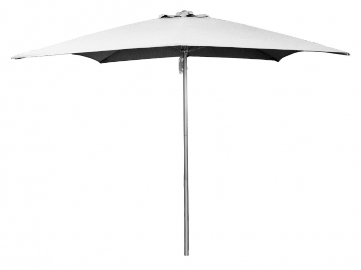 Cane-line Shadow parasoll m/snor, 3x3 m, Lysegrå, aluminium