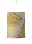 Ebb&Flow - Lampeskjerm, fern leaves graphic, okker, Ø30