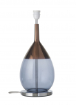 Ebb&Flow - Lute lampefot, blue/copper, Sølv base