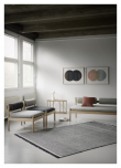 Fabula Living Njord Kelim - Lysegrå/Sort, 200x300