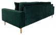 Lido 3-pers, Sofa - Mørkegrønn Velour