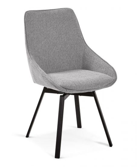 Kave Home - Haston Spisebordsstol - Lys grå