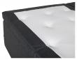 Vansbro 5-zoner Elevationsseng Fast/Fast, Mørkegrå stoff, 180x200