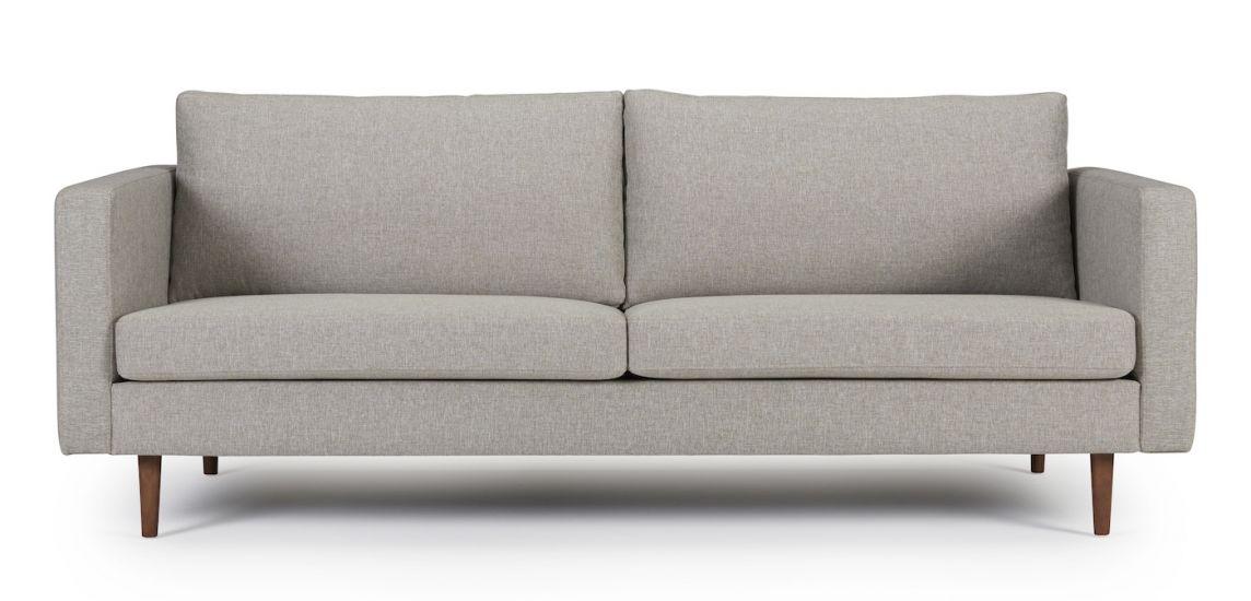 Kragelund Otto 3-seter Sofa, Dark sand Stoff