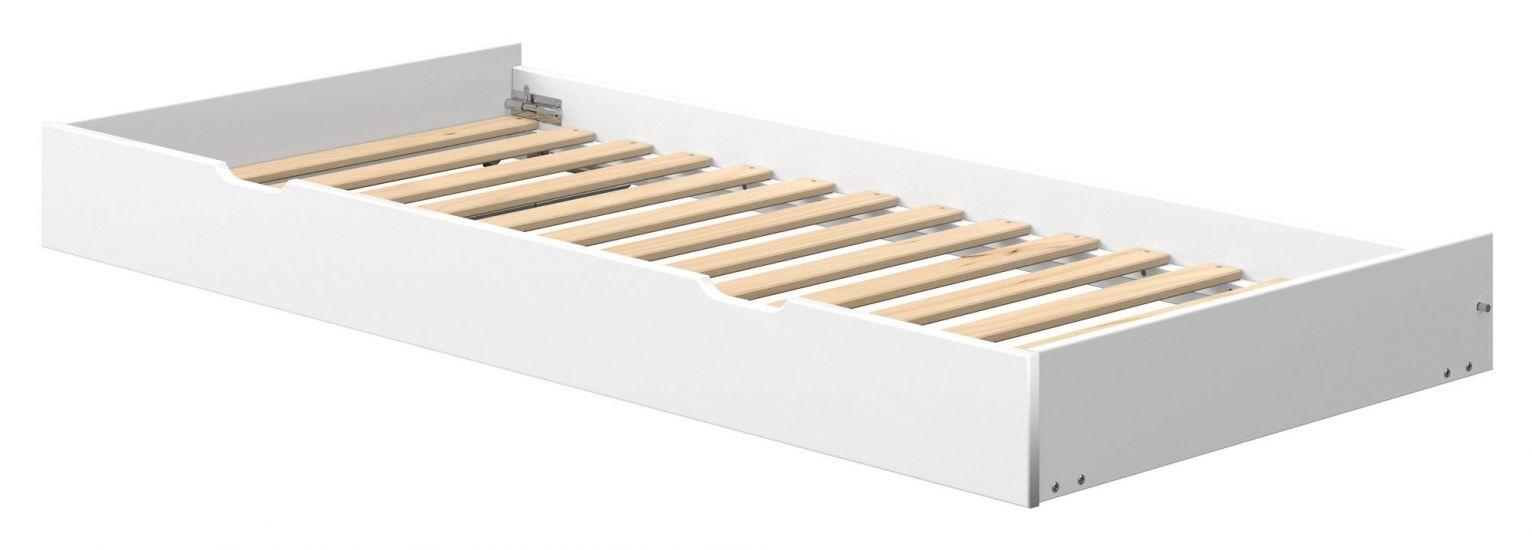 FLEXA Nor Uttrekkseng 200cm hvit ,  190x90cm madrass