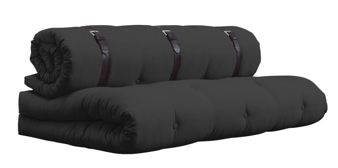 Buckle-Up Futon Sofa, Mørkegrå