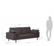 Kave Home Noa 3-pers. Sofa m. puter - Grå