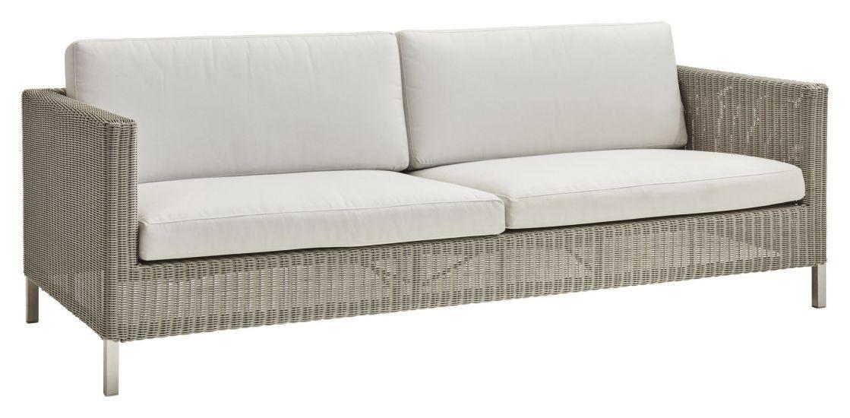 Cane-line Connect 3-pers. sofa putesett, Hvit