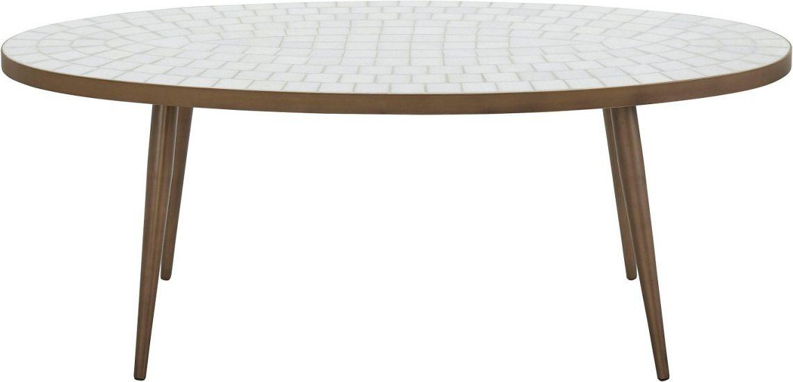 Stanley Sofabord - Hvid Mosaik