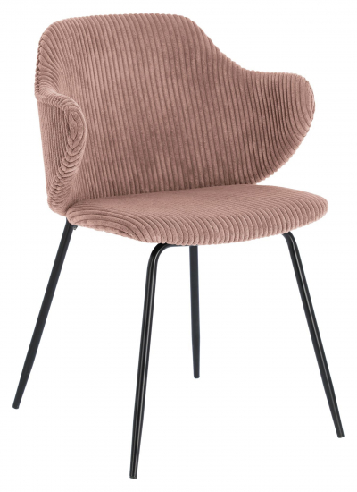 Kave Home Suanne Spisebordstol - Pink Fløyel