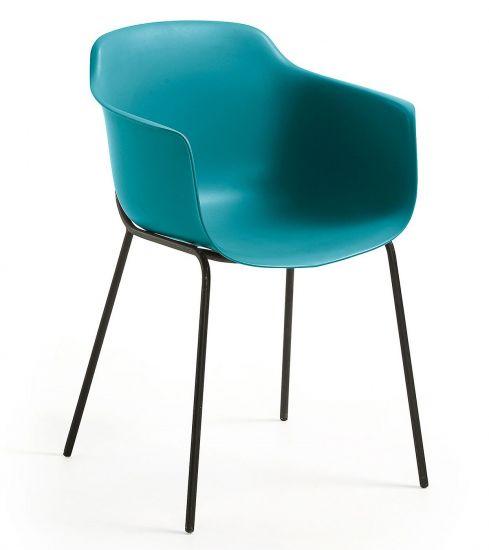 Kave Home - Khasumi Spisebordsstol i plast - Blå