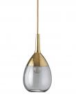 Ebb&Flow - Lute pendel, S, smokey grå / Gull